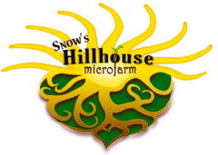 Snow's Hillhouse Microfarm and Hillhouse Vacation Rentals Logo